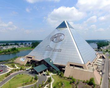 Exterior of Bass Pro Pyramid