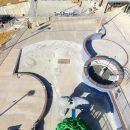 Overhead view of Batesville Aquatics construction