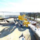 Pool & slide construction at Batesville Aquatic
