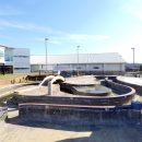Empty pool during construction at Batesville Aquatic