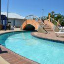 Batesville Aquatics pool bridge