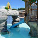 Batesville Aquatics rock decoration and pool slide