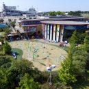 Childrens museum with splash pool
