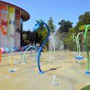Decorated museum splash pool