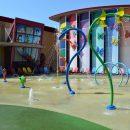 Decorative splash pool sprinklers