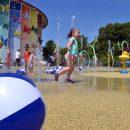 Museum splash pool