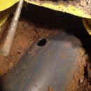 Underground pipework and rebar